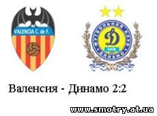 Валенсия - Динамо 2:2 (Видеообзор) Онлайн